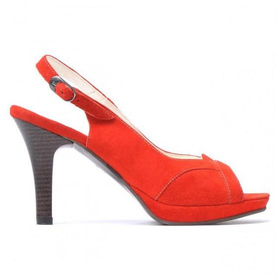 Sandale dama 1052 rosu antilopa