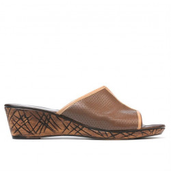 Women sandals 5004mp cappuccino perforat