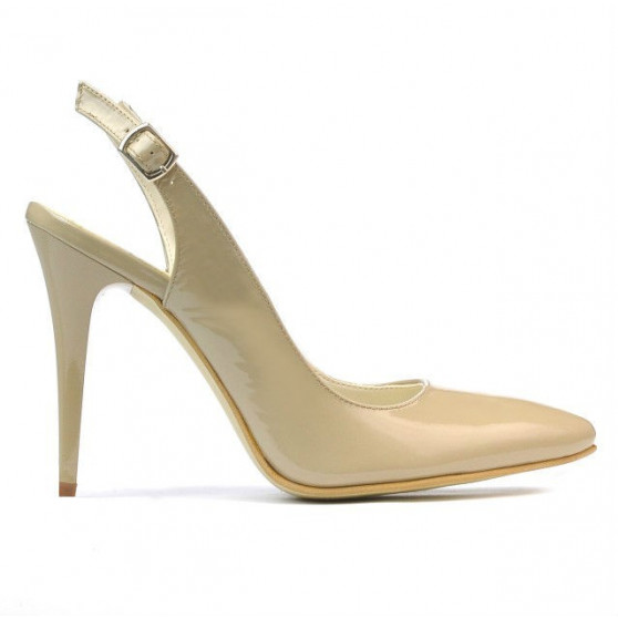 Women sandals 1235 patent beige
