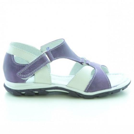 Small children sandals 09c purple+white
