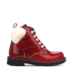 Small children boots 38c patent burgundy