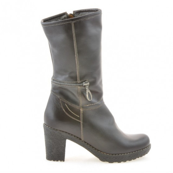 Women knee boots 3256 cafe