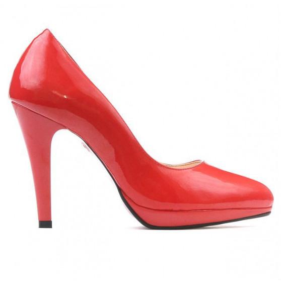 Pantofi eleganti dama 1233 lac rosu