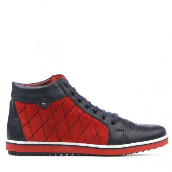 Women boots 3283 indigo+red
