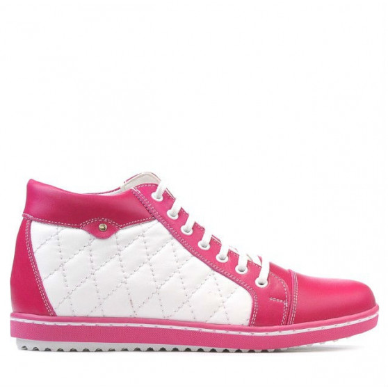 Women boots 3283 pink+white