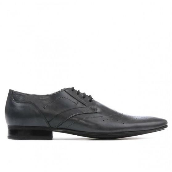Men stylish, elegant shoes 800 gray