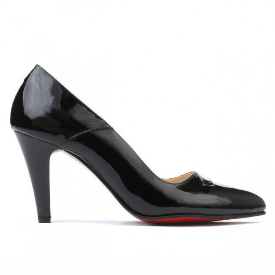 Women stylish, elegant shoes 1231 patent black