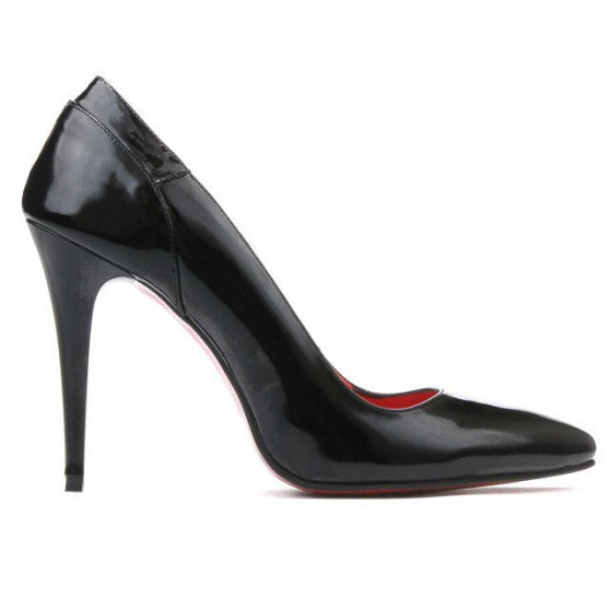 Women stylish, elegant shoes 1230 patent black