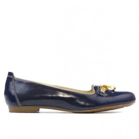 Women casual shoes 639 patent indigo