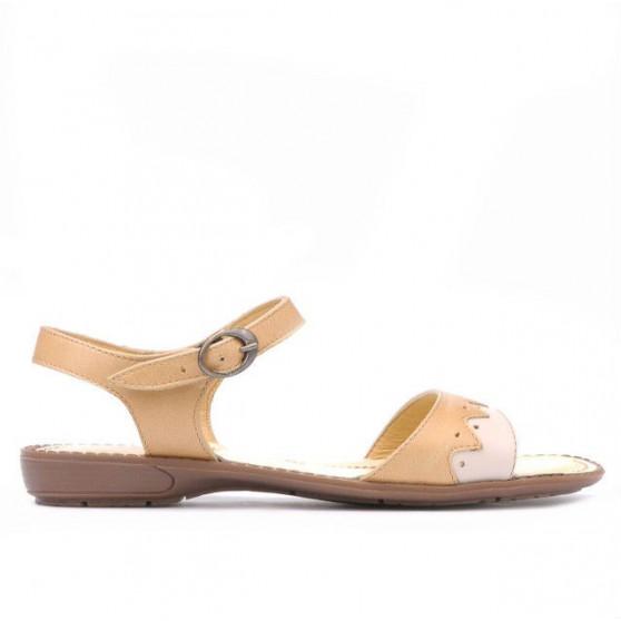 Sandale dama 590 caramel+bej