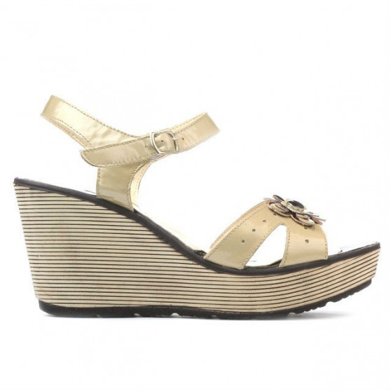Women sandals 5006 patent beige