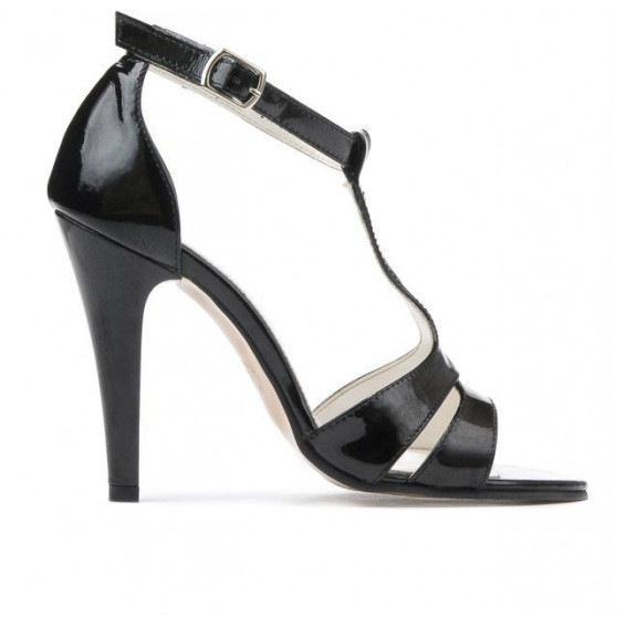 Women sandals 1239-1s patent black