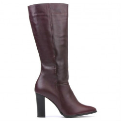 Women knee boots 1158-1 bordo