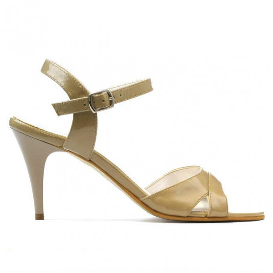 Women sandals 1240 patent beige