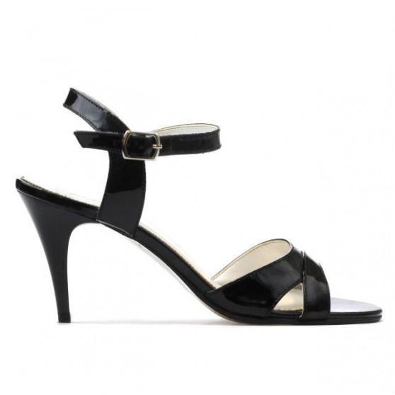 Women sandals 1240 patent black