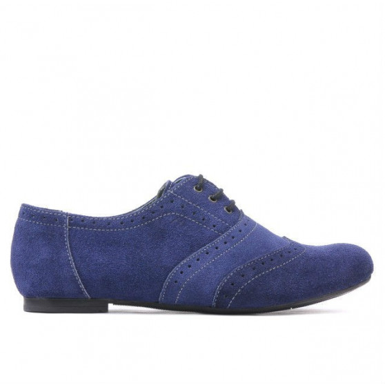 Women casual shoes 186 indigo velour