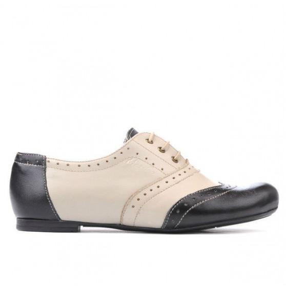 Women casual shoes 186 black+beige