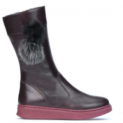 Children knee boots 3011 bordo
