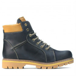Teenagers boots 439-1 tuxon indigo+brown