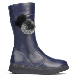 Children knee boots 3011 indigo