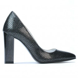 Pantofi eleganti dama 1261 piton negru