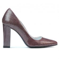 Pantofi eleganti dama 1261 piton bordo