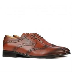 Men stylish, elegant, casual shoes 874 a cognac