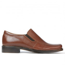 Men stylish, elegant shoes 789 brown