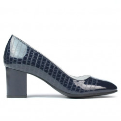 Women stylish, elegant shoes 1268 patent indigo