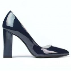 Women stylish, elegant shoes 1261 patent indigo