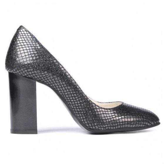 Pantofi eleganti dama 1269 piton negru