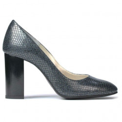 Women stylish, elegant shoes 1269 piton indigo