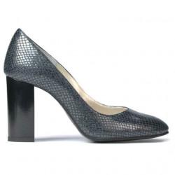 Women stylish, elegant shoes 1269 piton indigo
