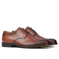 Men stylish, elegant shoes 839 a cognac