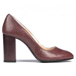 Women stylish, elegant shoes 1269 piton bordo