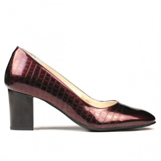 Pantofi eleganti dama 1268 lac bordo