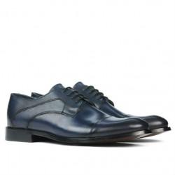 Men stylish, elegant shoes 879 a indigo