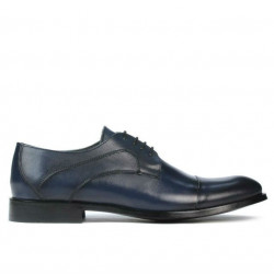 Men stylish, elegant shoes 879 a indigo