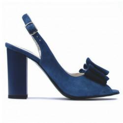 Sandale dama 1256 turcoaz antilopa