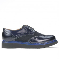 Women casual shoes 663-1 patent indigo combined