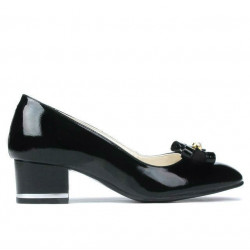 Women stylish, elegant shoes 1270 patent black