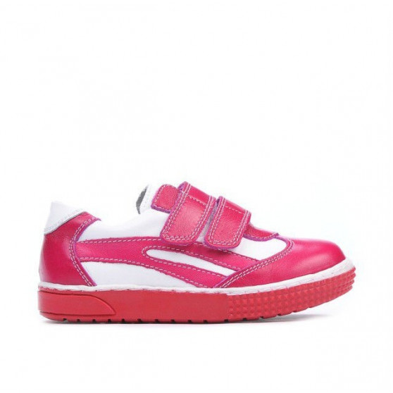Small children shoes 16-3c pink+white