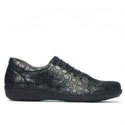 Pantofi casual dama 698 negru sidef