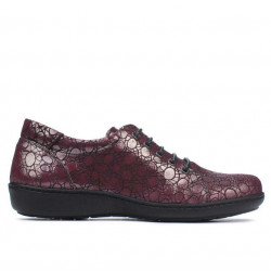 Women casual shoes 698 bordo pearl