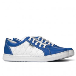Women sport shoes 648 indigo+white