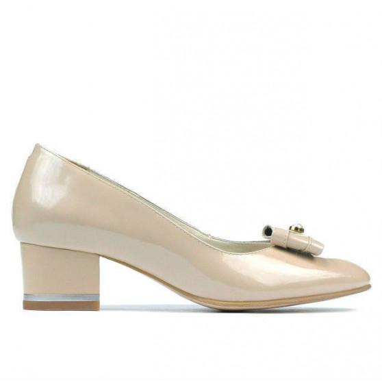 Pantofi eleganti dama 1270 lac ivoriu