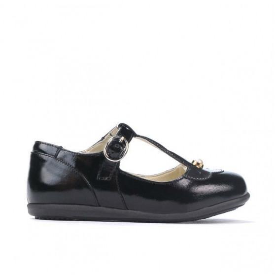 Pantofi copii mici 63c lac negru combinat