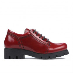Children shoes 158 patent burgundy