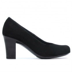 Women stylish, elegant, casual shoes 643 black velour