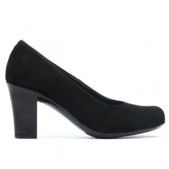 Women stylish, elegant, casual shoes 643 black velour